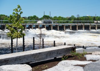 Chaudiere Falls after expansion