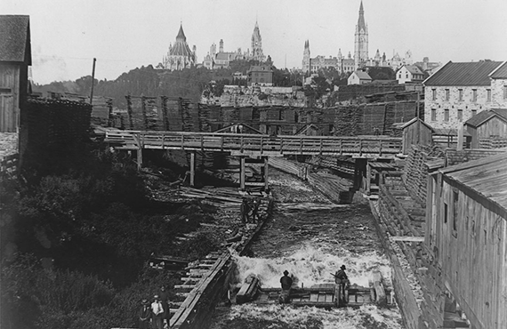 Two of a handful of buildings to survive the Great Fire of 1900, they were part of J.R. Booth's lumber empire. These lumber barons fueled the prosperity and growth of Ottawa.