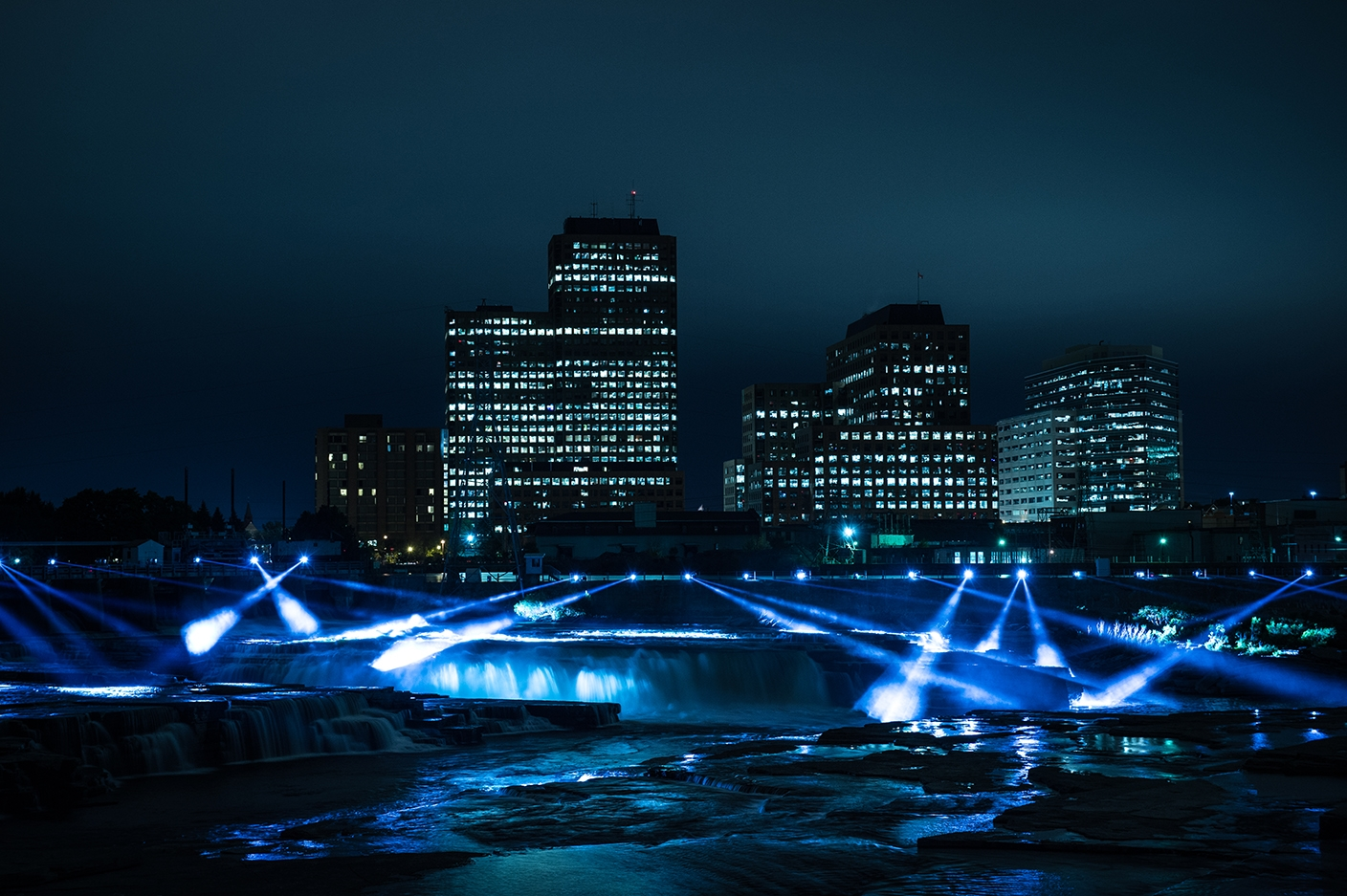 Chaudière Falls Powerhouse (Generating Station No. 5) – Night