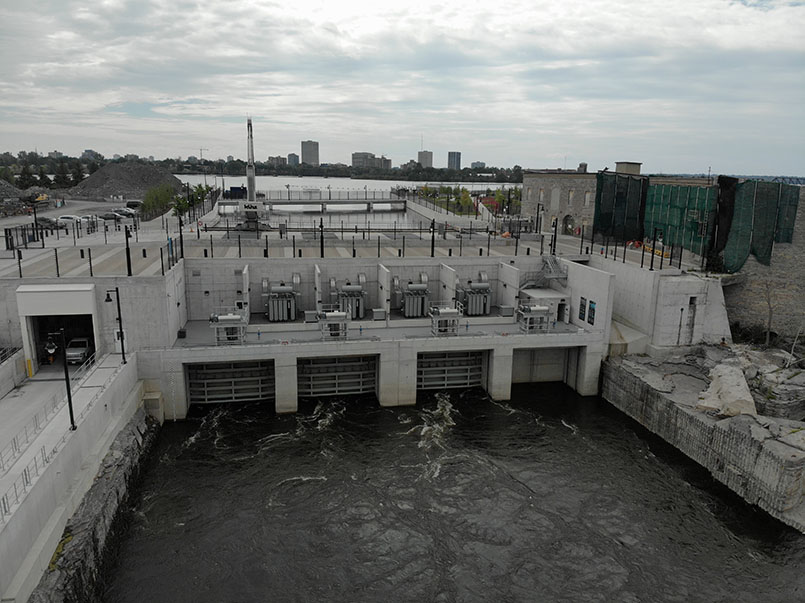 4 turbines of Chaudiere Falls Generating Station
